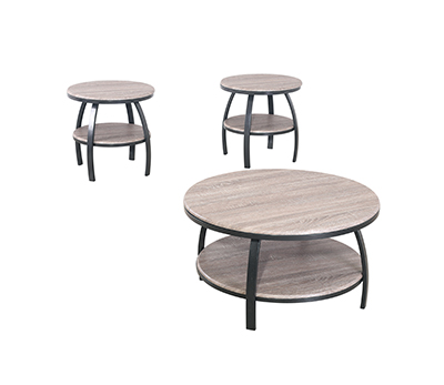 GS-CT853 3pc round coffee table set