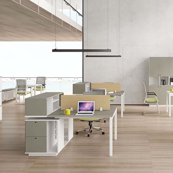 Atwork Dual workstations with storage function/italian open office space Featured Image