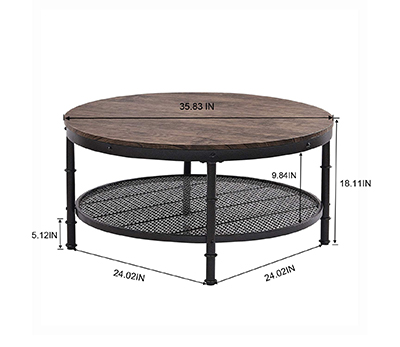 GS-CT866 coffee table with mesh decaration