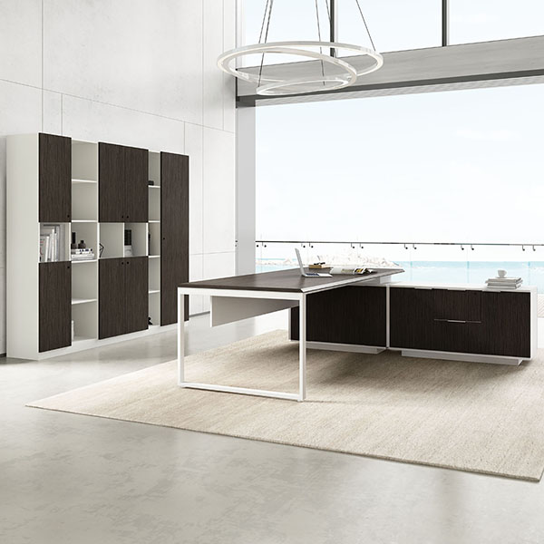 Saosen atwork executive table. manager desk with veneer lamination