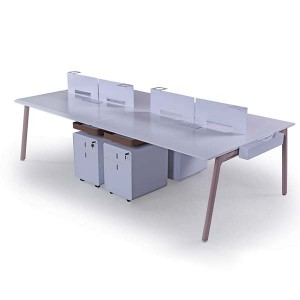 Big Discount Industrial Style Fashion Manager Computer Table Boss Office Desk With Metal Leg L Type Office Table