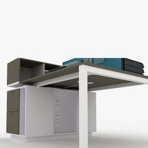 Atwork Dual workstations with storage function/italian open office space