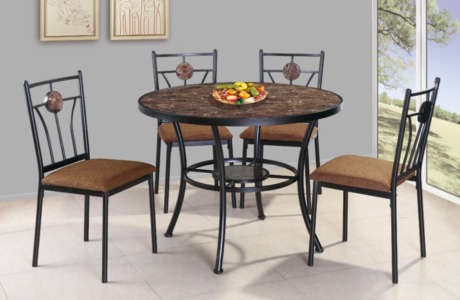 5pc round dining table set—GS-5168