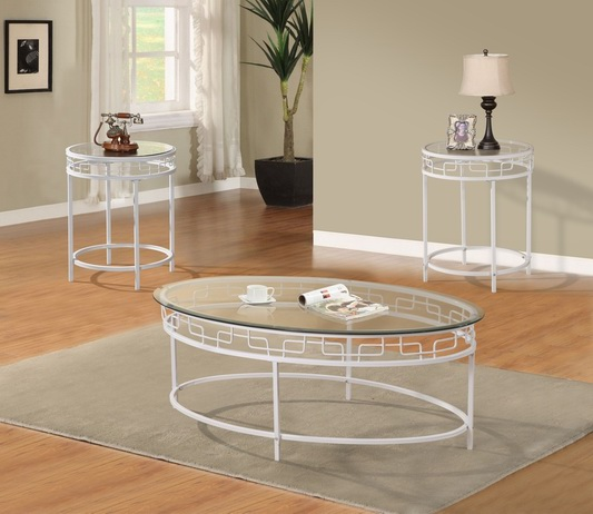 GS-CT622 3PC GLASS COFFEE TABLE SET Featured Image