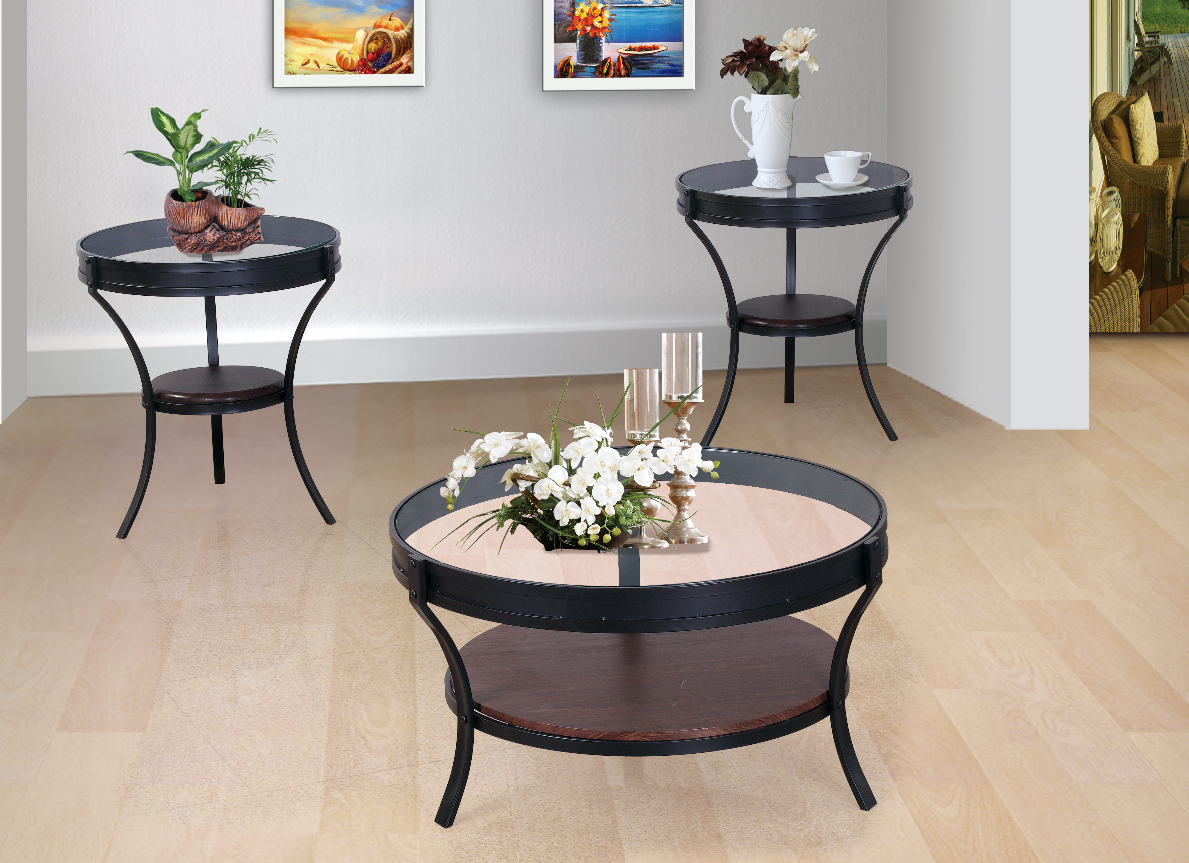 GS-CT823 3PC OCCASIONAL TABLE SET
