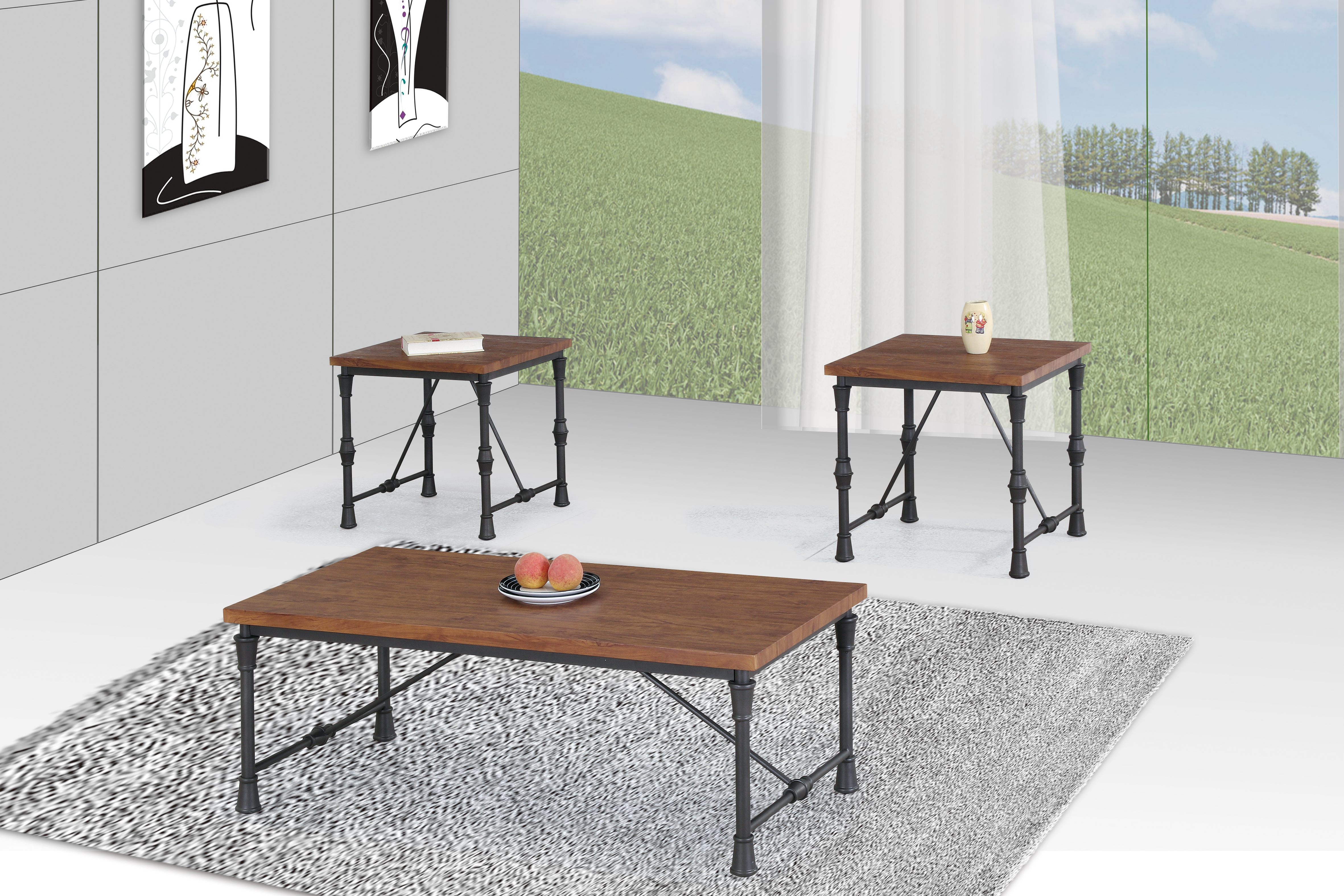 GS-CT832 3PC COFFEE TABLE SET