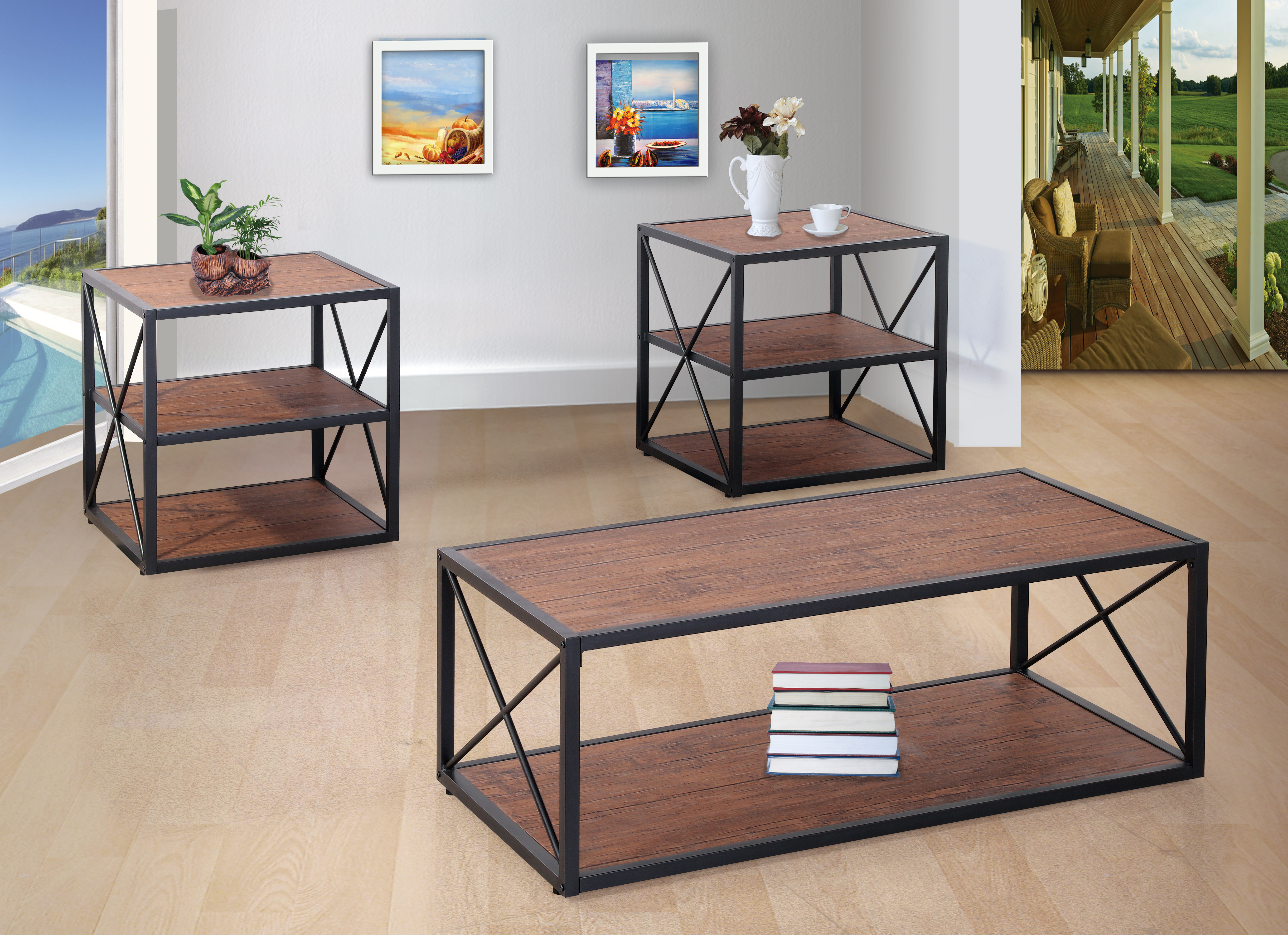 GS-CT838 3PC OCCASIONAL TABLE SET