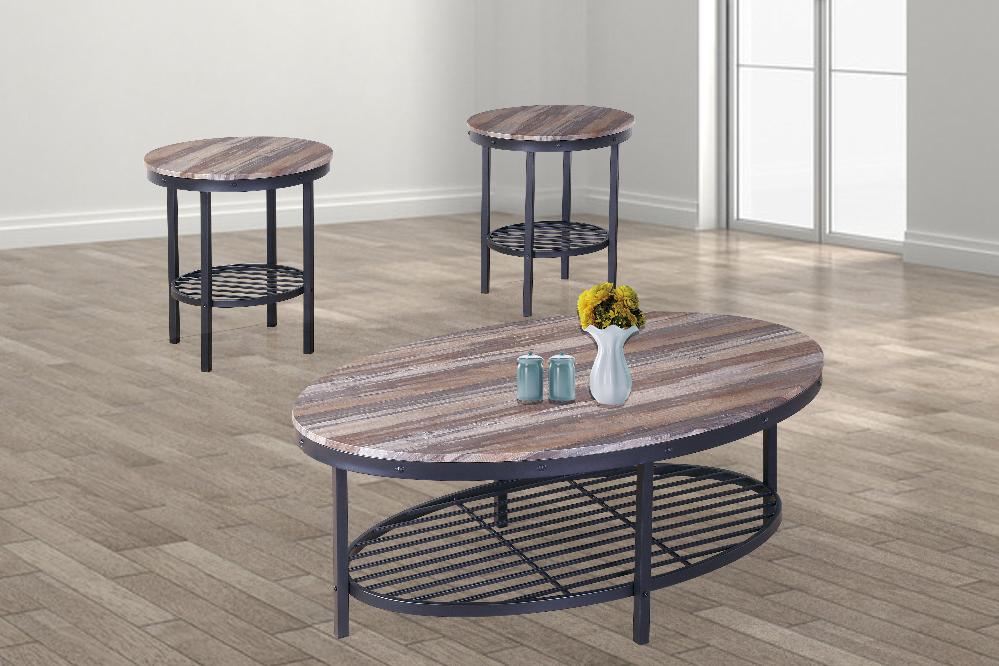 GS-CT867 3PC OCCASIONAL TABLE SET