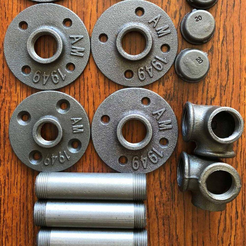 """3/4"""" 4 holes DN 20 Malleable cast iron floor flanges"""