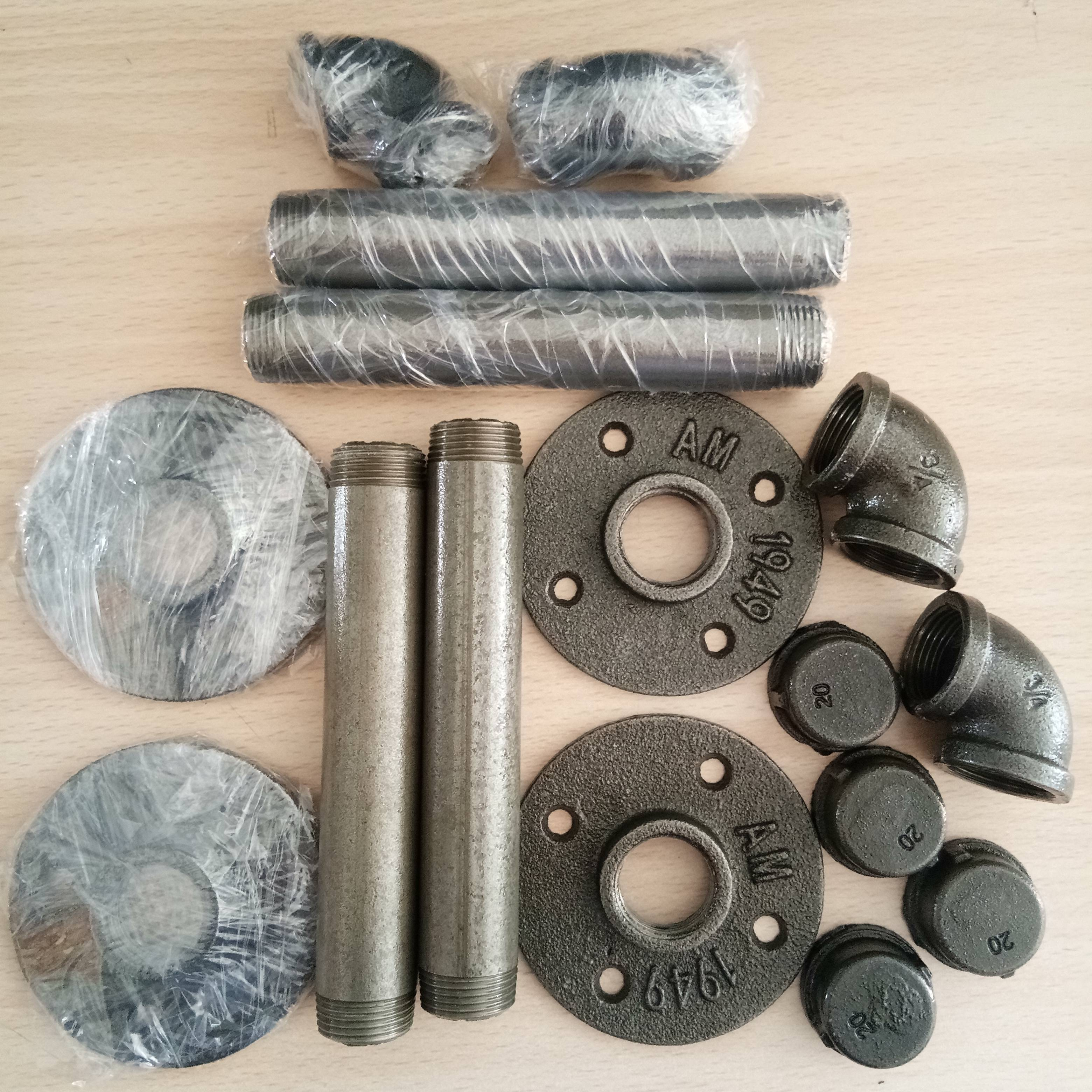 Natural color clear coating cast iron anti rust best quality fittings