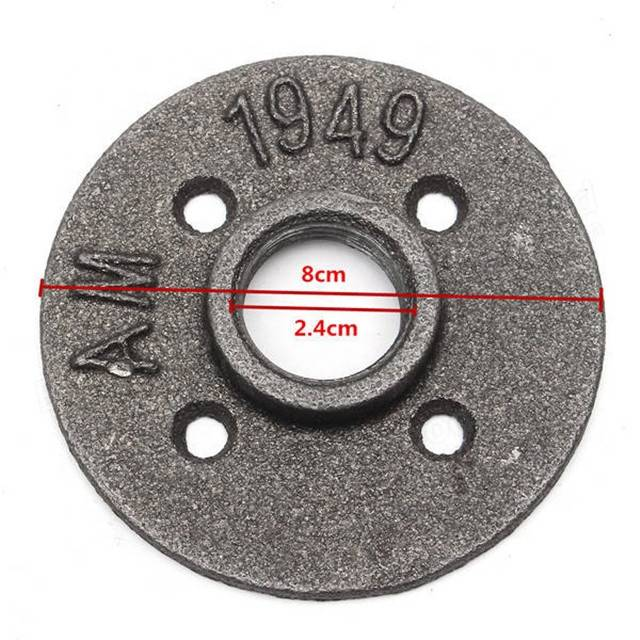 """3/4"""" cast iron black and galvanized floor flange for home decoration"""