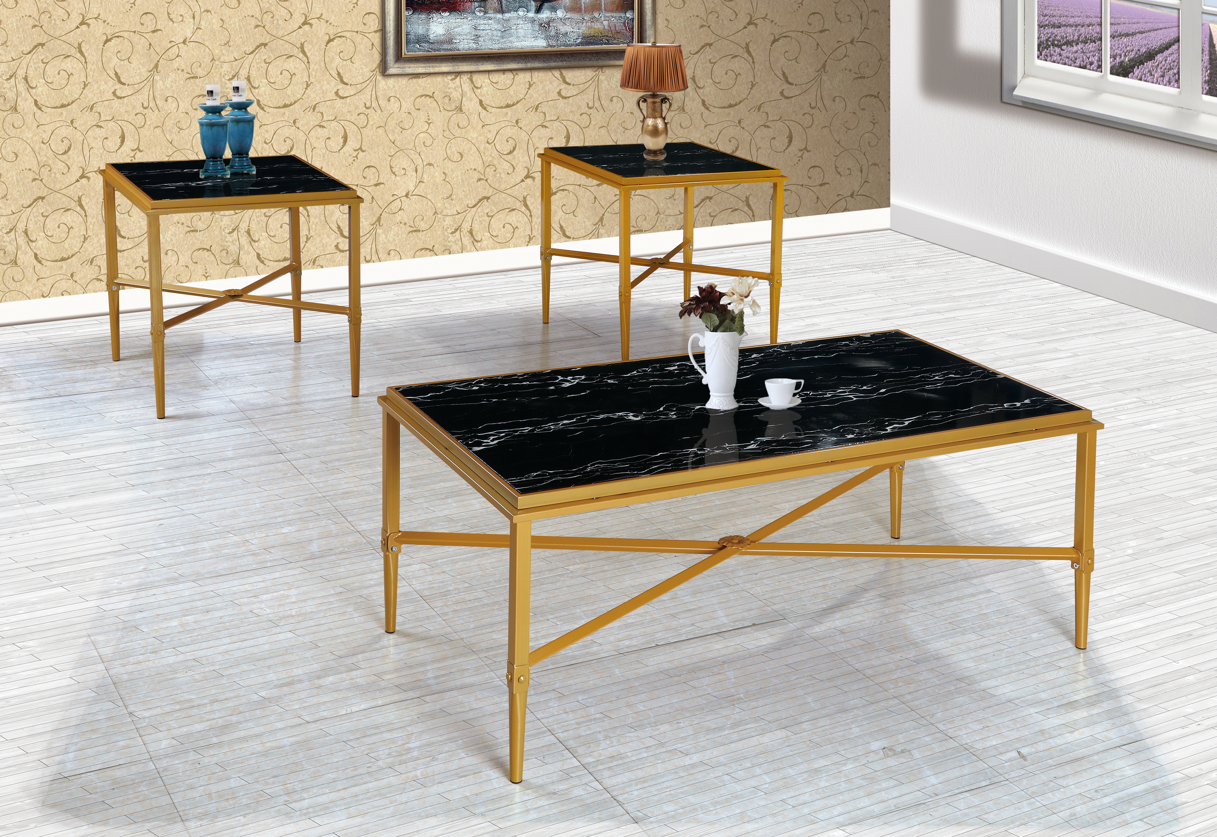 GS-CT883 3PC COFFEE TABLE SET