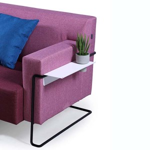 Neofront sofa and stool/ modern office fabric sofa