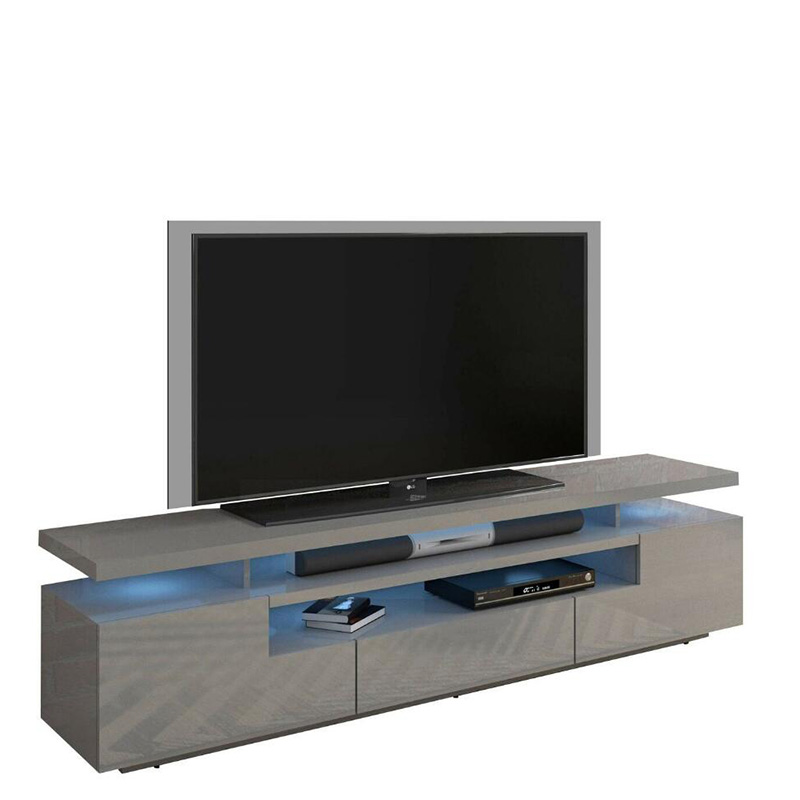 Wholesale Discount  Furniture New Model Stainless Steel Frame Tv Stand Cabinets Modern White Gloss Marble Top Table Tv Stand